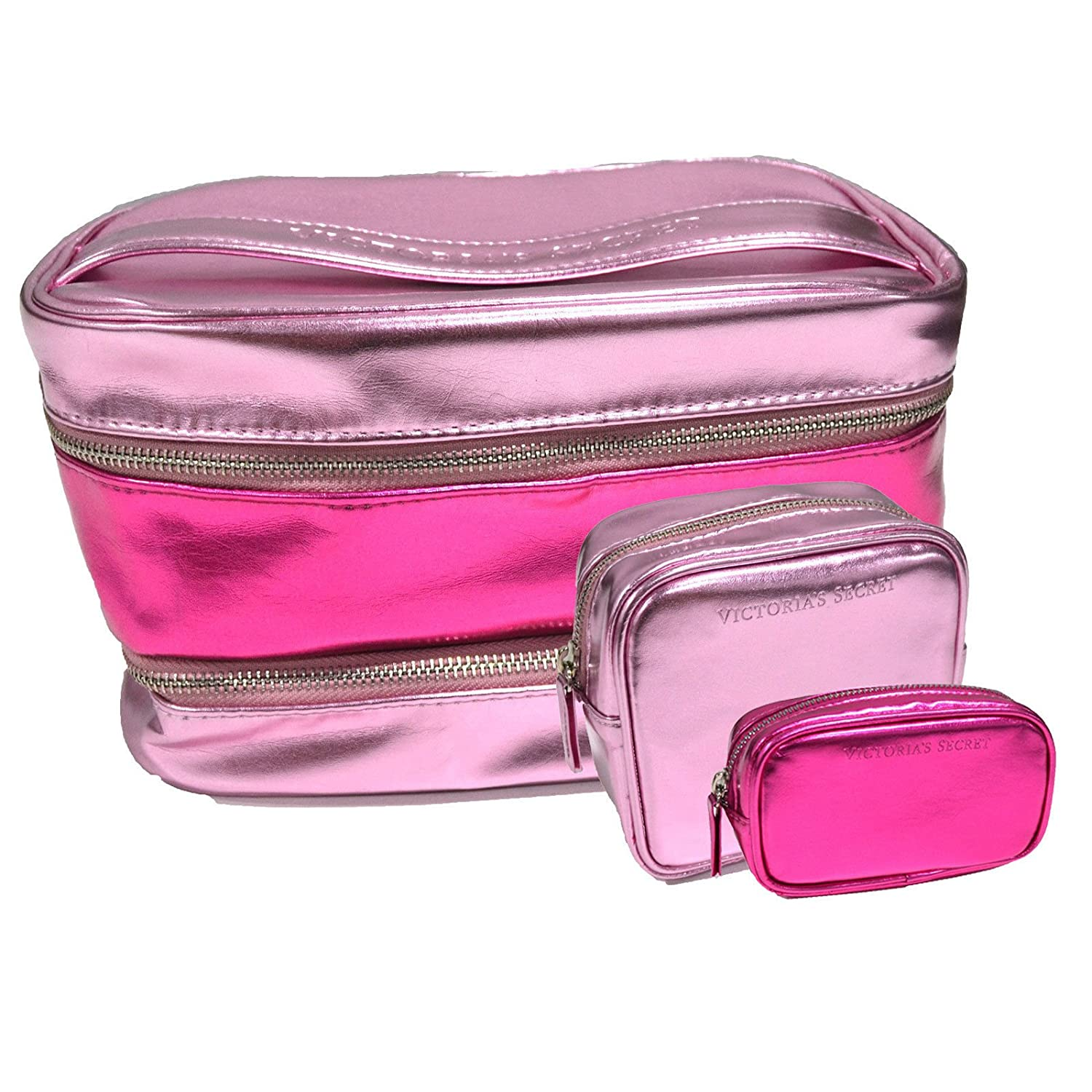 Victoria's Secret 3-Piece Pink Cosmetic Travel Bag