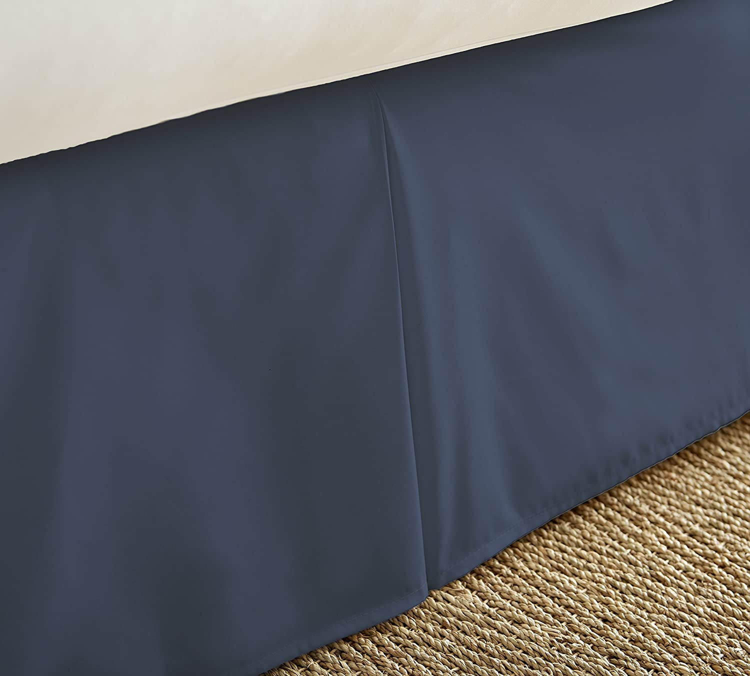 X-Large Twin XL BECKY CAMERON Bedskirt ienjoy Home Luxury Pleated Dust Ruffle Bed Skirt Black