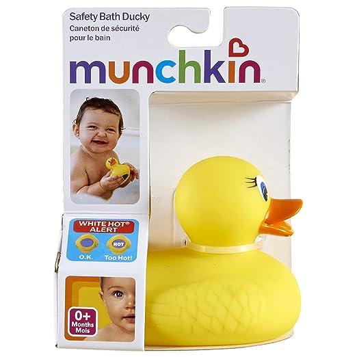 避免宝宝烫伤,Munchkin 麦肯奇感温洗浴小黄鸭