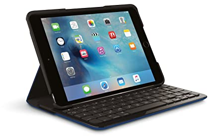 new arrival 924eb 58c62 Logitech Focus Case With Integrated Keyboard For Ipad Mini 4, Dark Blue