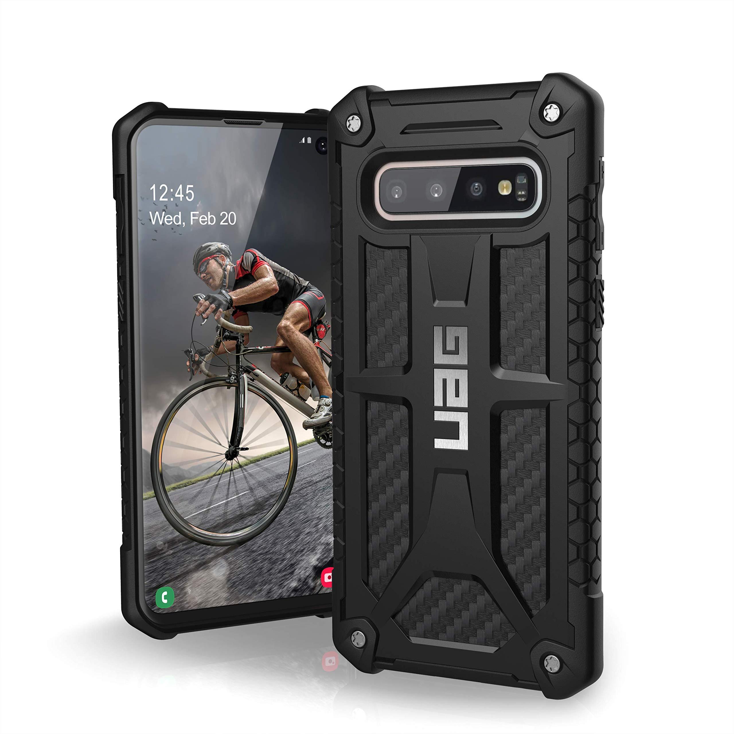 URBAN ARMOR GEAR UAG Designed for Samsung Galaxy S10 [6.1-inch Screen] Monarch [Carbon Fiber] Military Drop Tested Phone Case