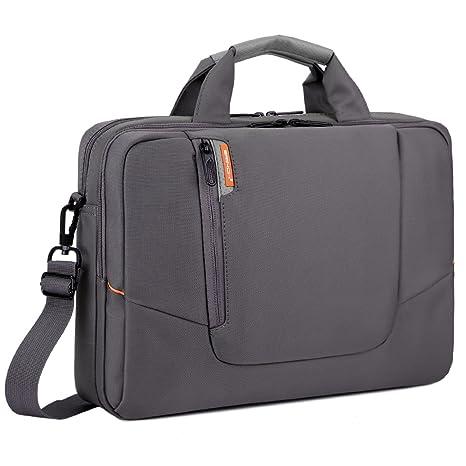 Maletín para ordenador portátil, bolsa de mensajero, con bolsillos,