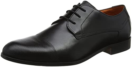 Buy Bugatti Men Black Lace Up Leather