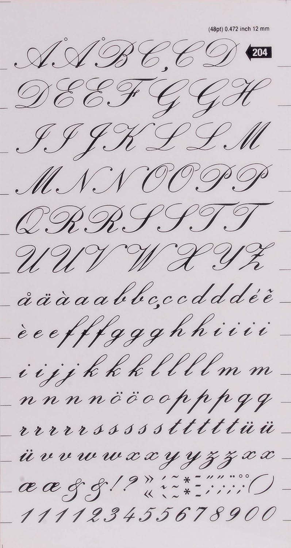Lettere e numeri trasferibili neri Numeri 6 mm Nero