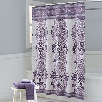 BrylaneHome Mariah Shower Curtain Plum0
