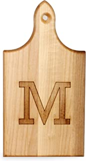 product image for J.K. Adams Q-Tee Cut-Up Sugar Maple Wood Cutting Board, 7-1/2-inches by 4-inches, Alphabet Series, M