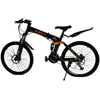 GoGoA1 ACBELLI 26 inch High Carbon Steel Frame Mountain Bike / Bicycle with Spokes wheels and 21 speed gear