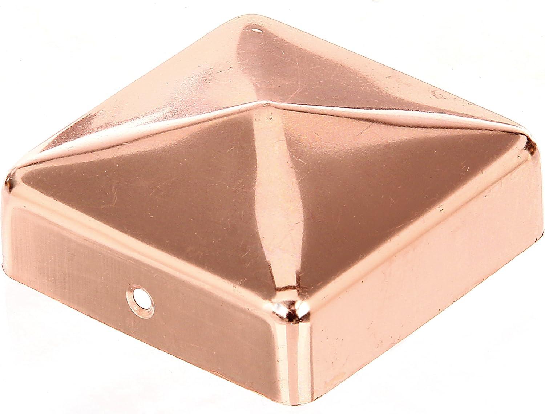 Material GAH-Alberts Capuchon plat pour poteau en bois 70 x 70 mm Kupfer 1 pi/èce