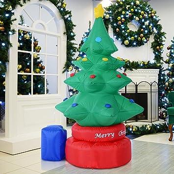 Homcom Weihnachtsbaum, 2,10m hoch, aufblasbar, elektrisch ...