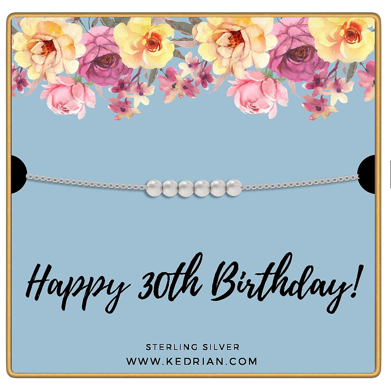 Amazon.com: KEDRIAN Collar de 30 cumpleaños, plata de ley ...