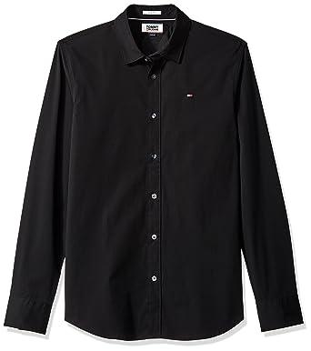 6d67ad8f Tommy Hilfiger Men's Original Stretch Button Down Shirt, Tommy Black, ...