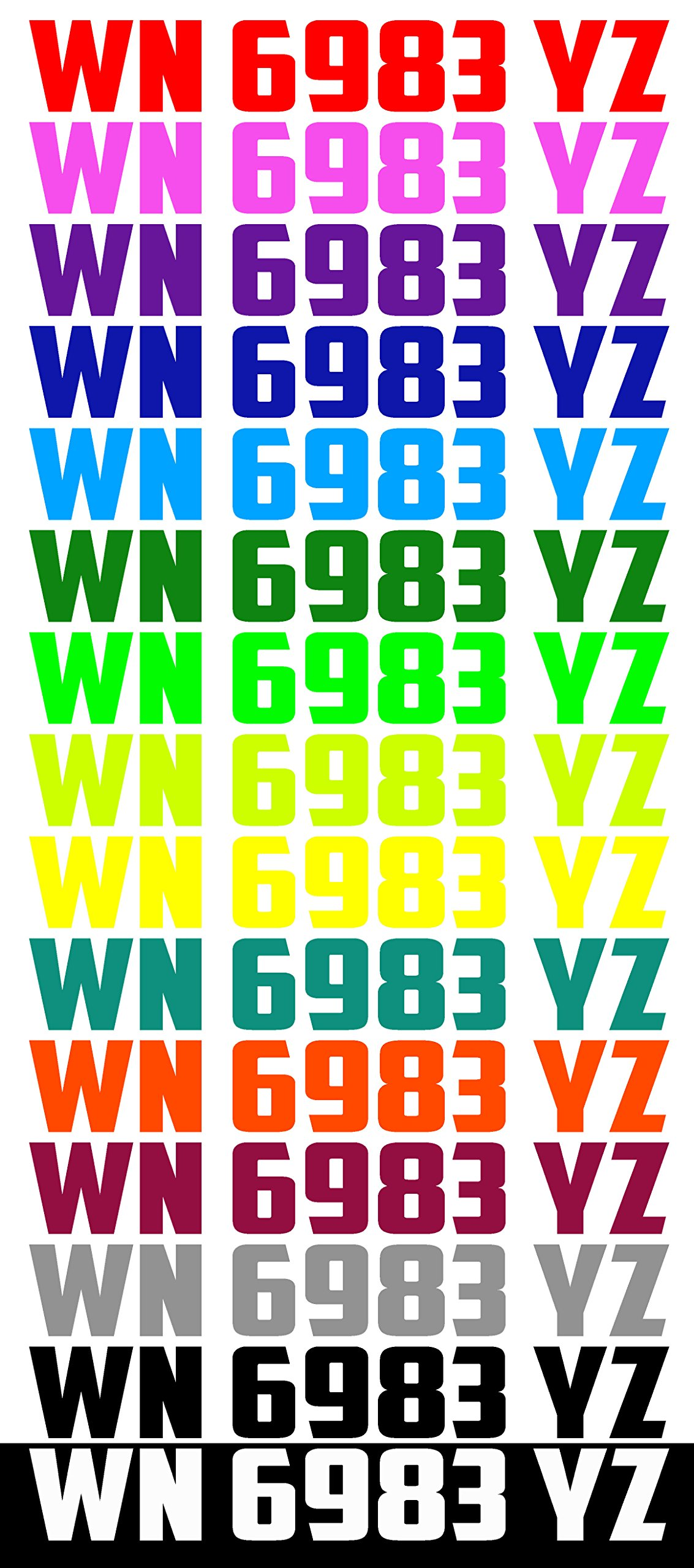 JUST RIDE Custom Boat or PWC Registration Hull ID Number Decal Sticker Set of 2