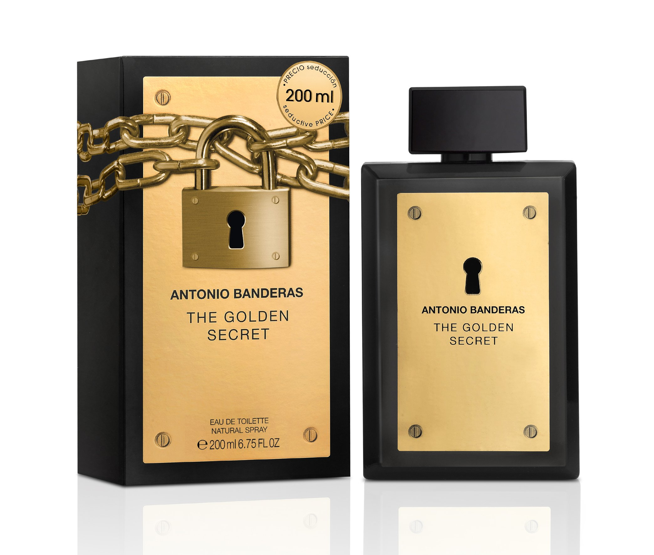 Antonio Banderas The Golden Secret for Men Eau de Toilette Spray, 6.75 Ounce
