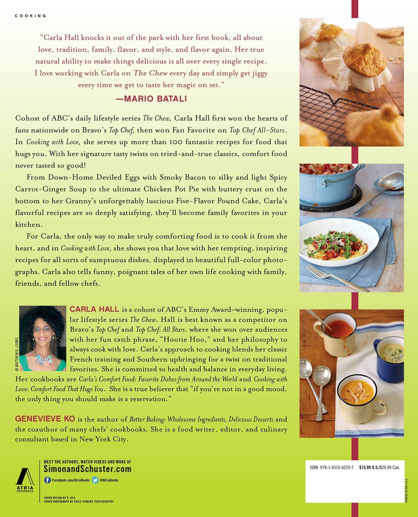 Cooking with love comfort food that hugs you carla hall genevieve cooking with love comfort food that hugs you carla hall genevieve ko 9781451662207 amazon books forumfinder Image collections