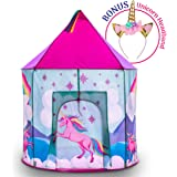 Kids Play Tent and Unicorn Headband – Misty Mountain Unicorn Play Tents for Girls and Boys w/ Unicorn Horn Headband and Indoor Outdoor Kids Tent Tote