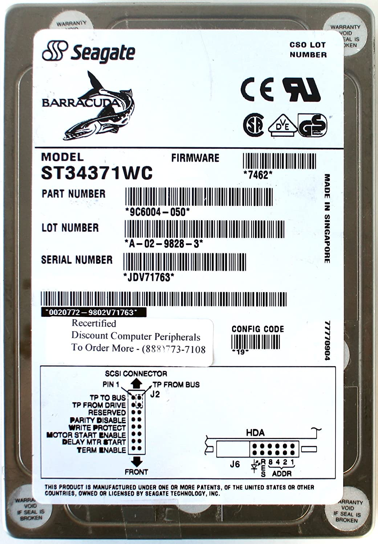 LOT OF 3 Seagate BARRACUDA ST34371WC SCSI Hard Drive Sun 3702367-02