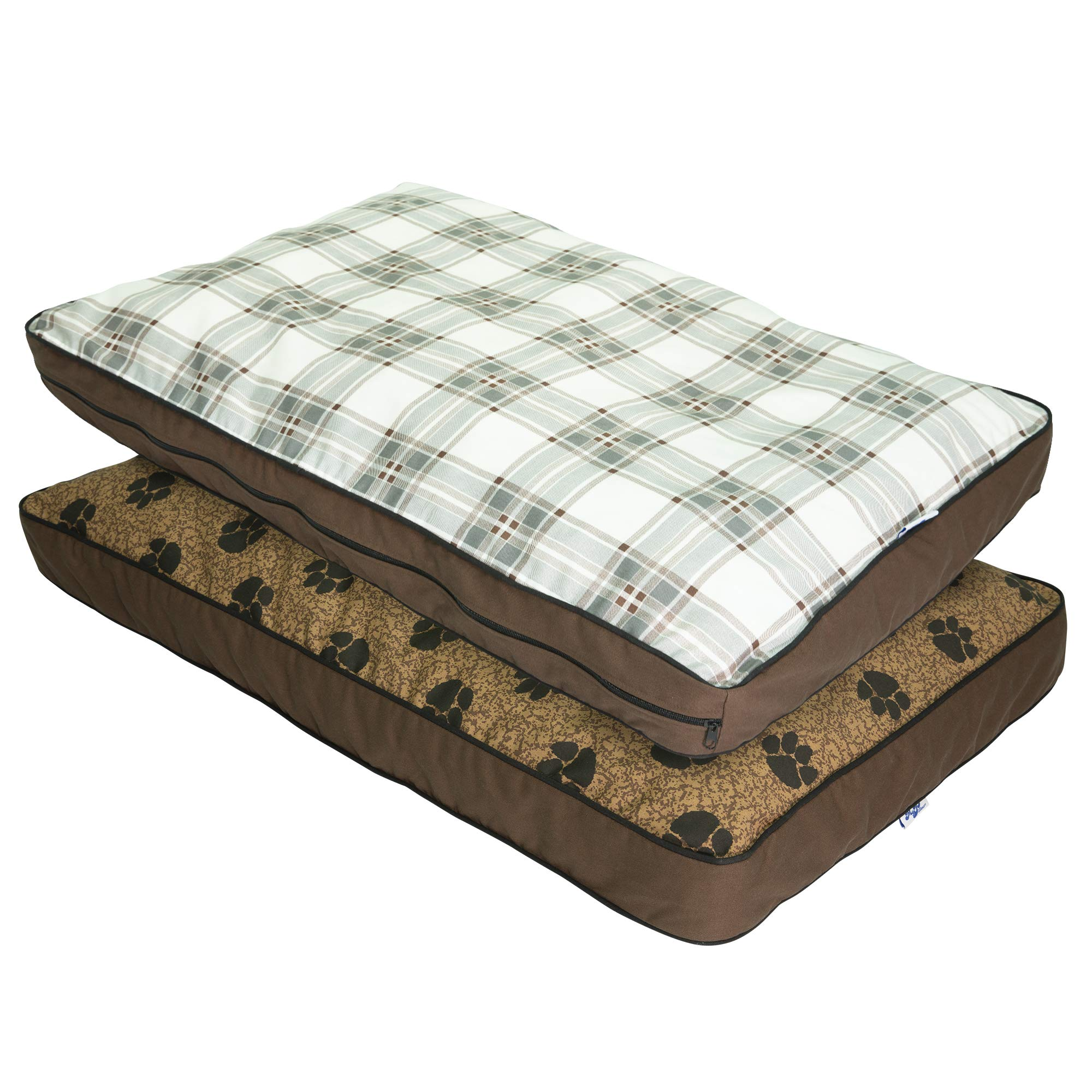 MyPillow Dog Beds, Large, Brown by MyPillow