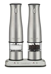 Cuisinart SP-2 Stainless Steel Rechargeable Salt and Pepper Mills (Renewed)