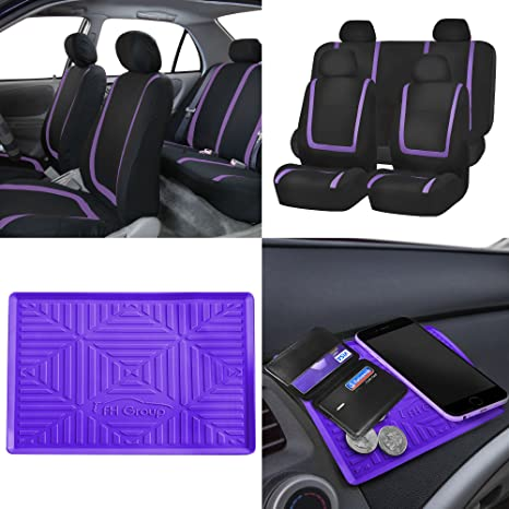 BLACK FRIDAY SALE FH GROUP FB032114 Unique Flat Cloth Full Set Car Seat Covers W