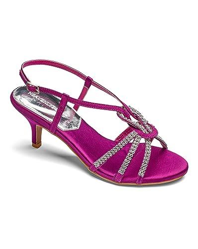 24acae13a76 Womens Heavenly Soles Diamante Comfort Sandals Fuchsia