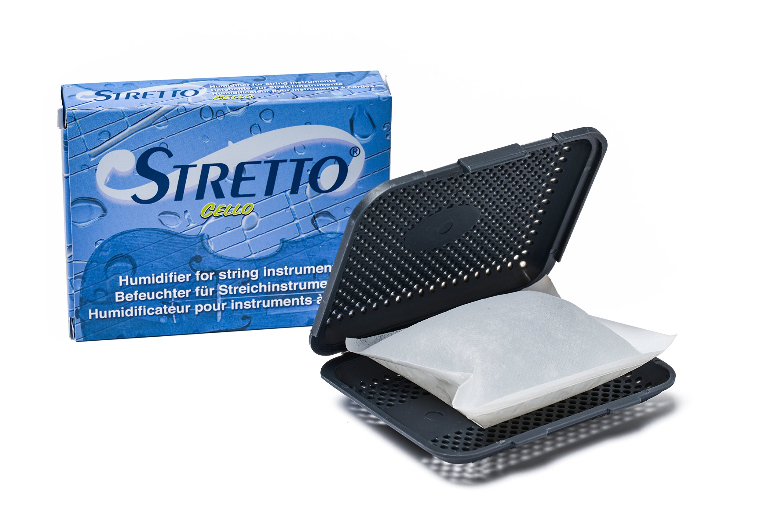 STRETTO STR-1030 Humidifier for Cello & large instruments case & 2 humid bags