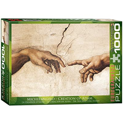 EuroGraphics Creation of Adam by Michaelangelo Puzzle (1000-Piece): Toys & Games