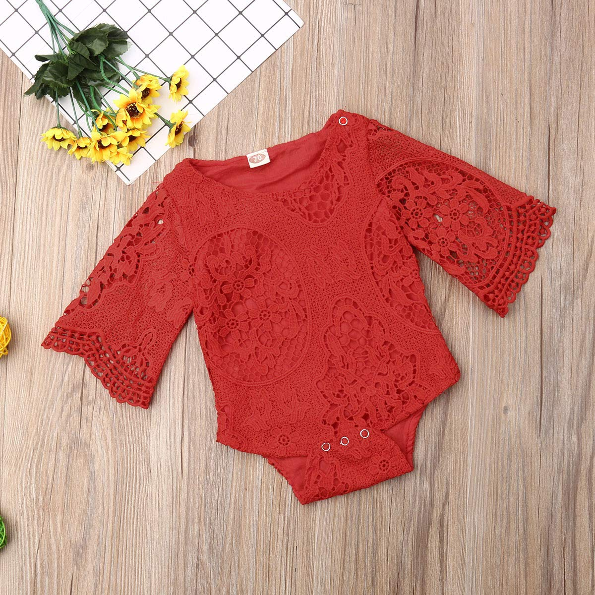 Baby Girl Clothes White Lace Romper Bodysuit Jumpsuit Sunsuit Newborn Clothing Outfits Baby Birthday Shower Gift