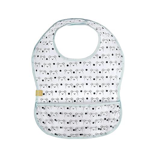 L/ÄSSIG Baby L/ätzchen EVA Junge M/ädchen wasserdicht Klettverschluss//Waterproof EVA Bib Little Chums Dog