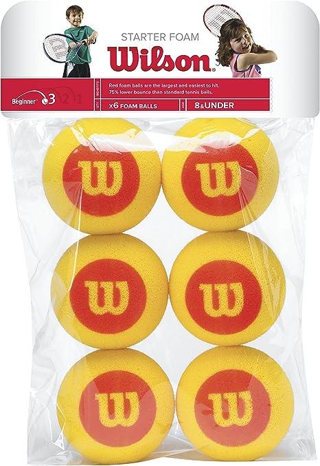 Wilson Starter Foam Pelotas de tenis, pack de 6, para niños ...