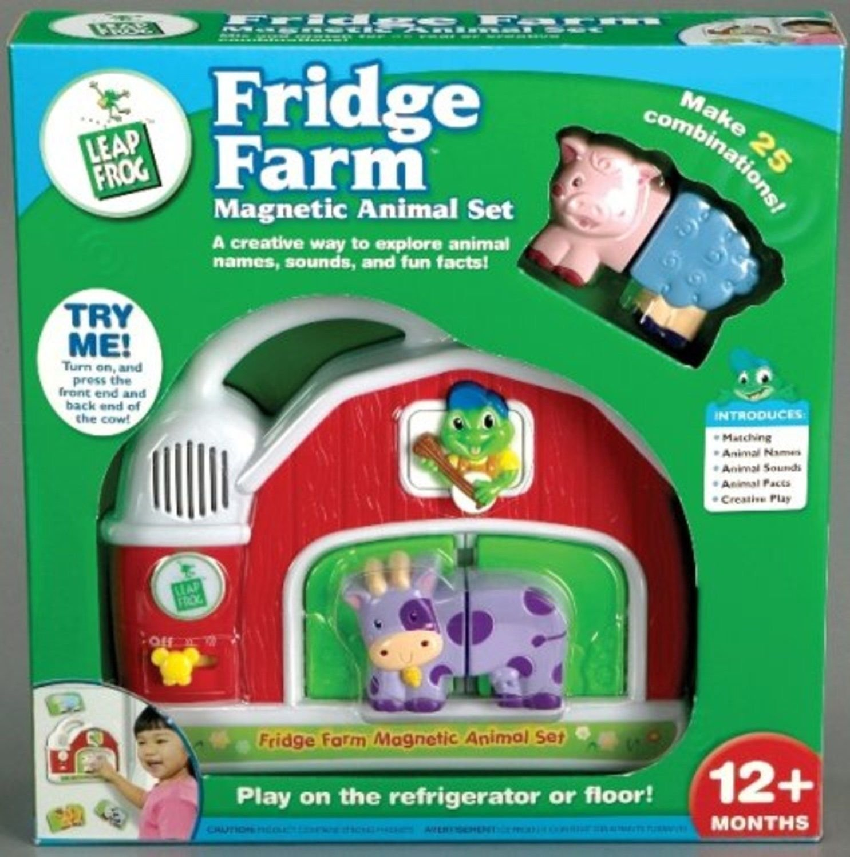 Toy / Game LeapFrog Fridge Farm Magnetic Twenty Five wacky Animal Set with Farmer Tad plays five banjo tunes