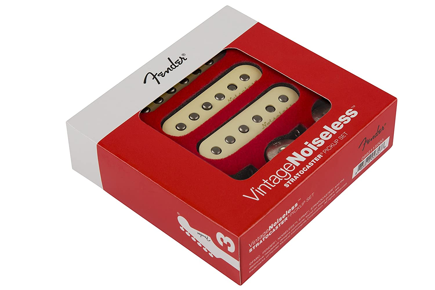 Fender Vintage Noiseless Stratocaster Pickups Set White Deluxe Players Strat Wiring Diagram 3 Musical Instruments