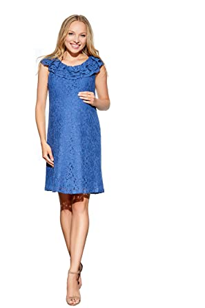 67a33d29cfd Maternal America Women s Ruffle Neck Maternity Tunic Dress at Amazon ...