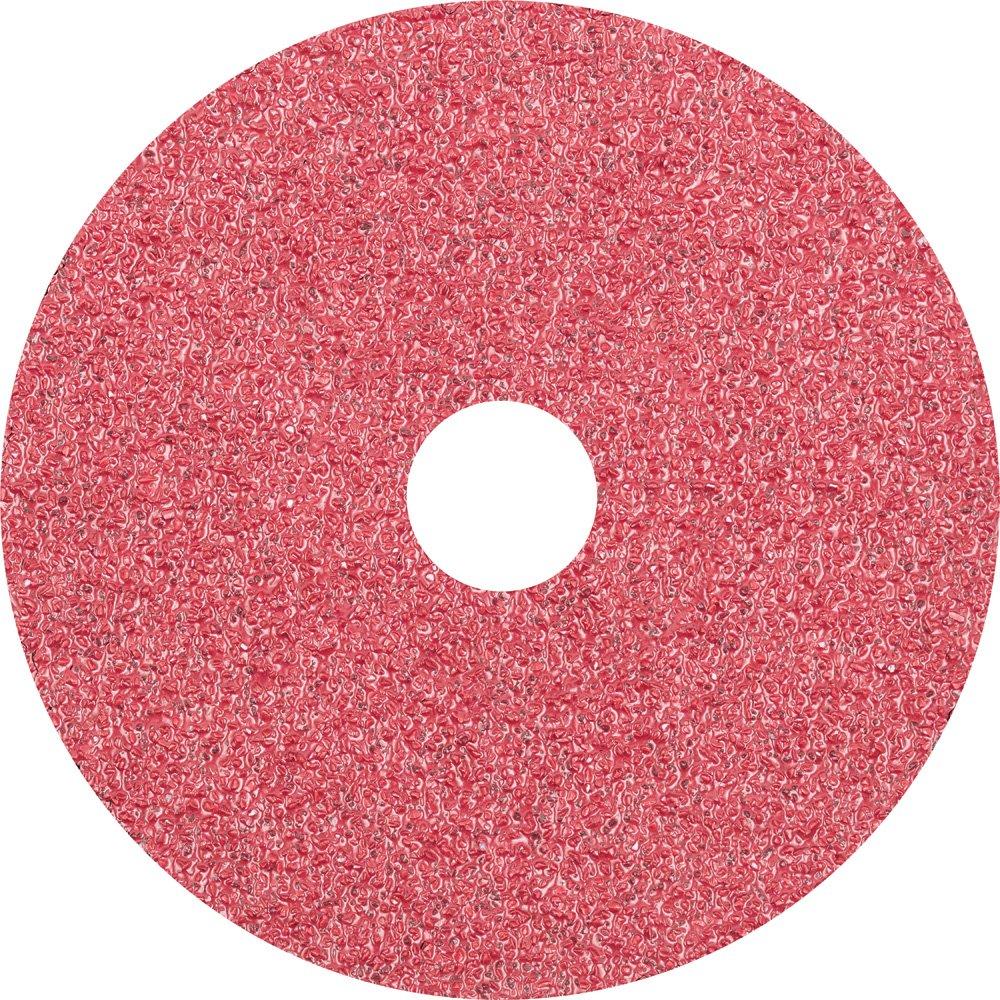13300 rpm PFERD 62410 Fibre Disc Pack of 25 4-1//2 Diameter 7//8 Arbor Hole 4-1//2 Diameter 7//8 Arbor Hole PFERD Inc. Ceramic Oxide CO 24 Grit
