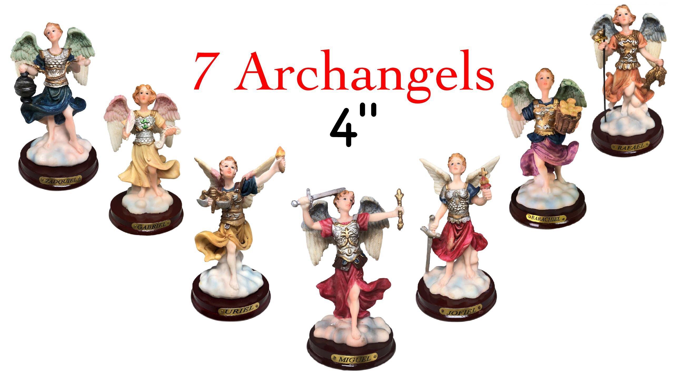7 ARCHANGELS - 7 ARCANGELES 4 INCH Statues Complete Set