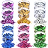 60g Chunky Glitter, HNYYZL 12 Boxes 5g Holographic Iridescent Chunky Glitter Body Glitter for Face, Arm, Hair, Nail Cosmetic,