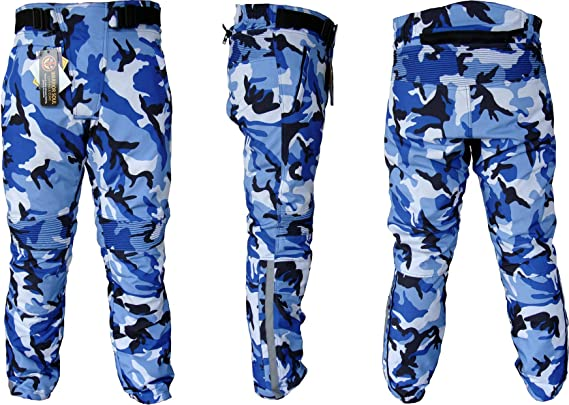 W42 L32, Red Camo MAL Breathable CE Armoured Waterproof Motorcycle//Motorbike Cordura Trousers