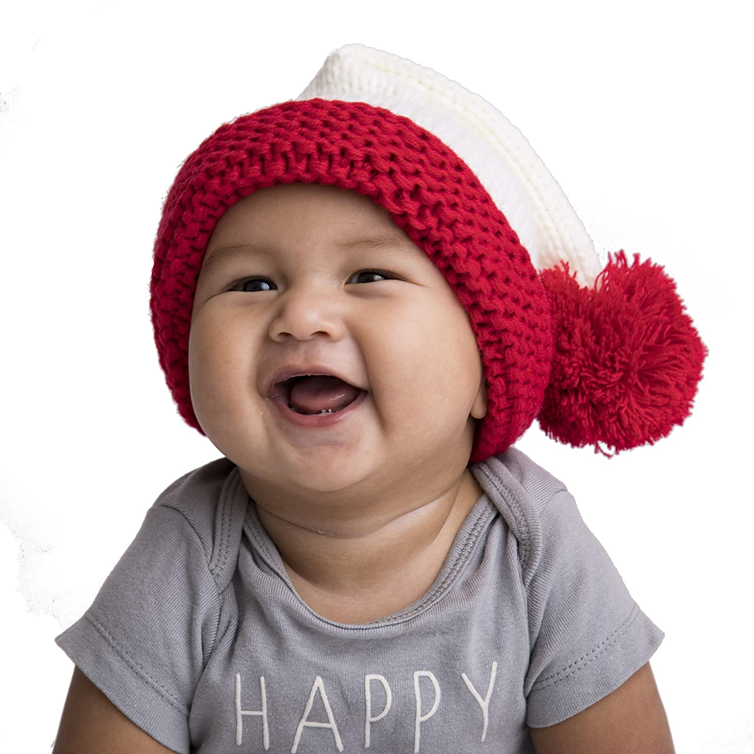 cedcd56e7f9 Amazon.com  Huggalugs Baby Toddler Adult Santa Stocking Hat in 2 Color  Choices  Clothing
