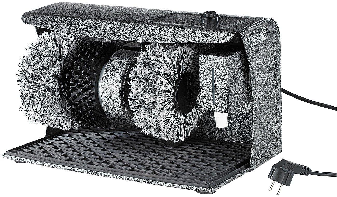 Sichler Haushaltsgerä te Schuhputzmaschine: PROFI Schuhputz-Maschine, Hammerlack, 3 Bü rsten, Schuhcreme-Spender (Schuhputzgerä t) Sichler Haushaltsgeräte
