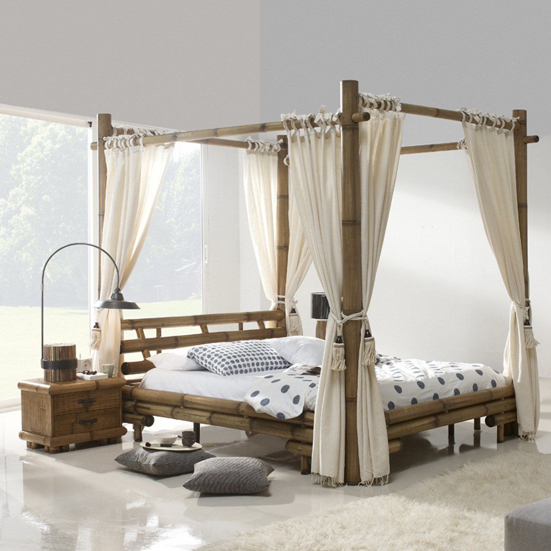 Himmelbetten Kaufen himmelbett bambusbett jimbaran 200x200 bambusmöbel bett aus bambus