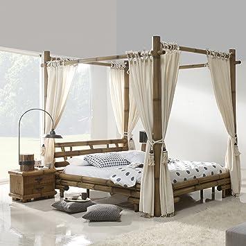 Hochwertig Möbel Bressmer Bambus Himmelbett 140x200 Tabanan HonigAntik Bett Mit Himmel  140 X 200 Himmelbetten Natur Holz