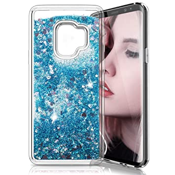 Funda Samsung Galaxy S9, Electro-Weideworld Purpurina Carcasa Brillante Liquida Ballistic Cristal Arenas Movedizas Transparente TPU Gel Bumper ...