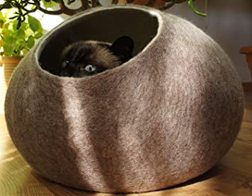 Hecha a mano de lana de oveja Natural, ecológico. Color arena marrón.: Amazon.es: Productos para mascotas