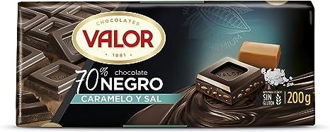 Valor, chocolate negro 70% con caramelo y sal - 17 de 200 gr ...