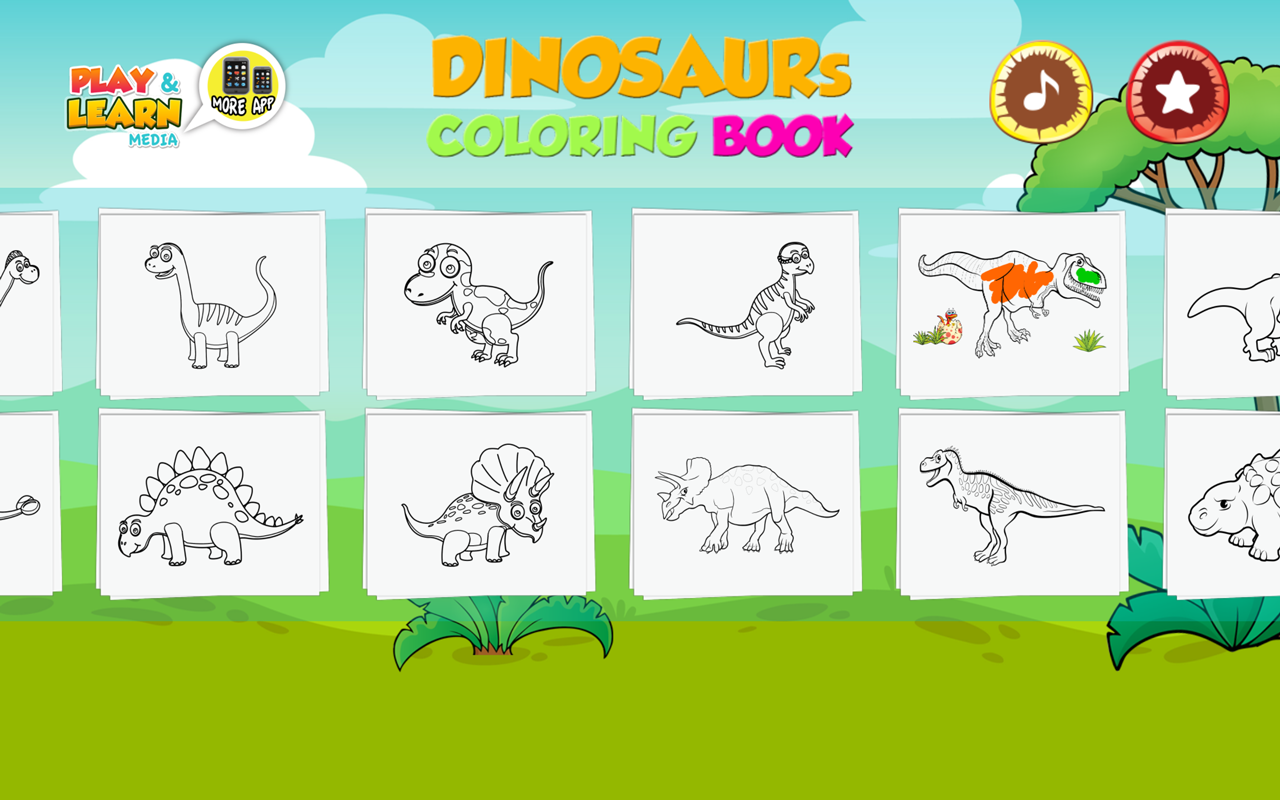 Libro para colorear de dinosaurios para niños