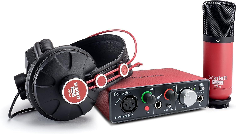 Focusrite – Scarlett Solo Studio Pack: Amazon.es: Instrumentos musicales