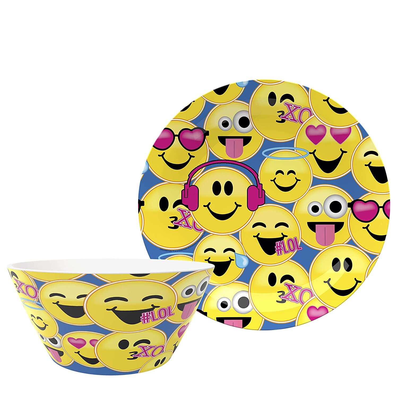新品?正規品  Zak Designs Plate Designs Emojination + Bowls EJNF-0660-AMZ Plate + Bowls Plate Emojination 2pc B07JR41M5F, 新品本物:bec6fc90 --- a0267596.xsph.ru
