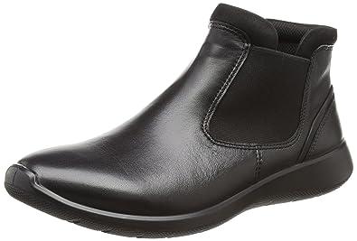 54db933531148a ECCO Women s Women s Soft 5 Low Chelsea Fashion Sneaker Black