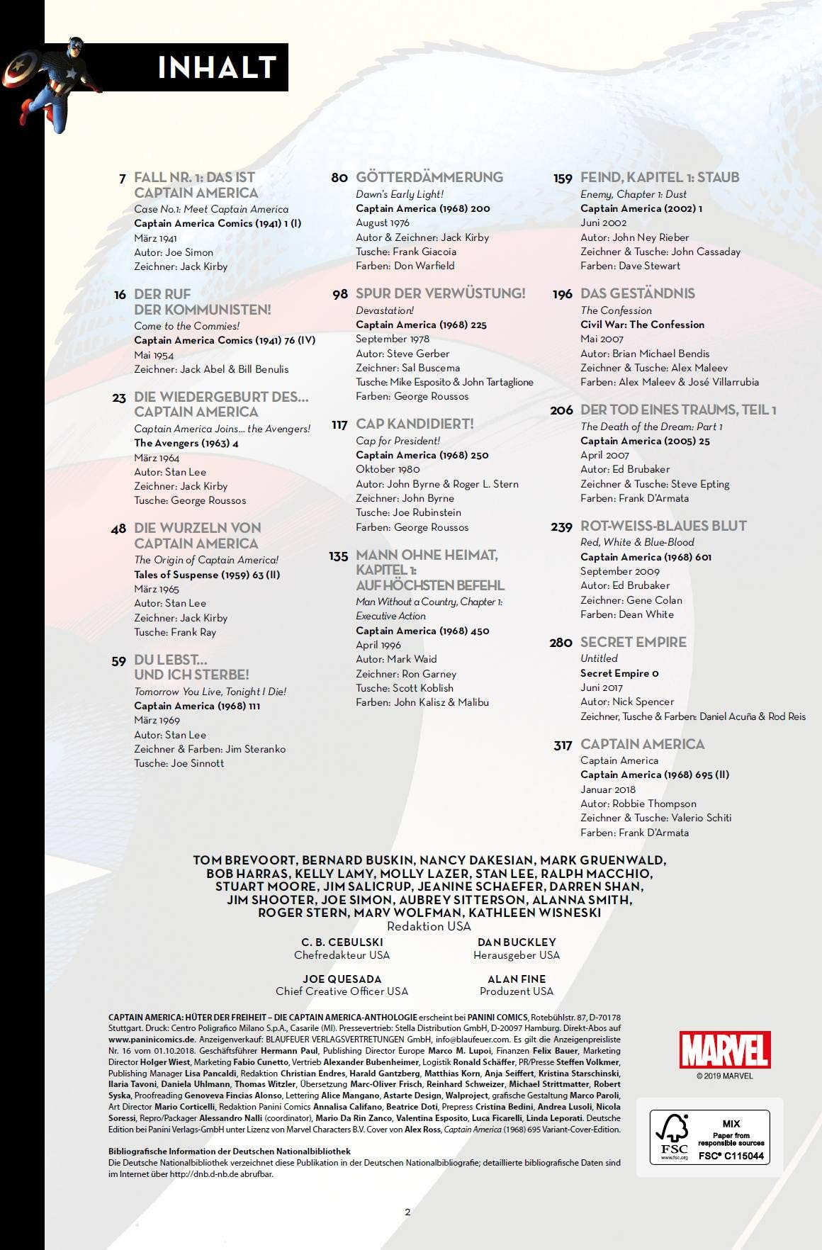 Captain America Anthologie: Hüter der Freiheit: Amazon.es ...