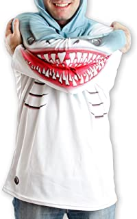product image for MouthMan Unisex-Adult Shark Hoodie Shirt