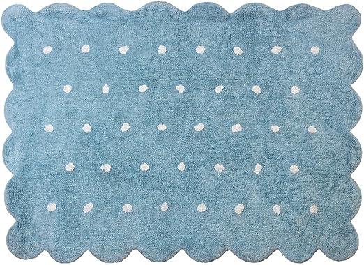Lilipouce Alfombra Infantil algodón Galleta, Tela, Azul Celeste, 120x160 cm: Amazon.es: Hogar